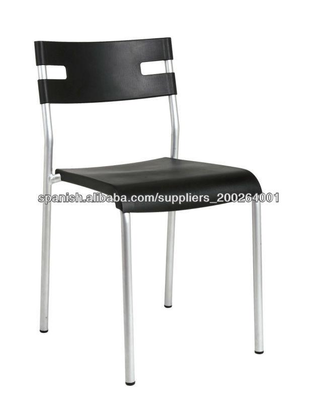 Pl sticas sillas apilables con patas met licas cromadas for Sillas comedor cromadas