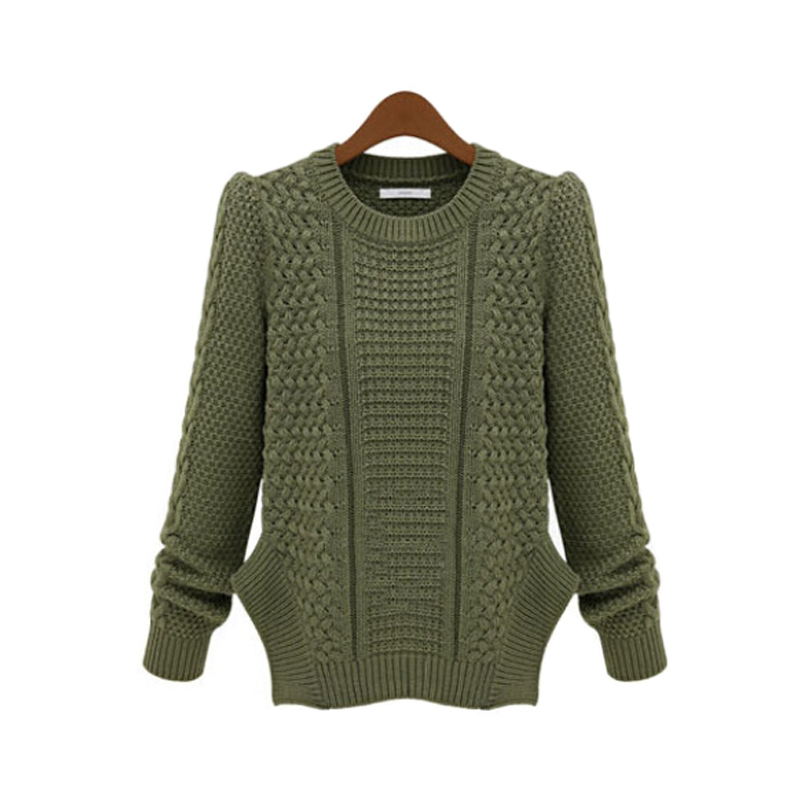 Buy Women Sweaters And Pullovers Fashion Casual Long sleeve O-neck Twist Knitted  Sweater Side Split Oversized Jumpers Pull Femme in Cheap Price on ... 7741d2acb