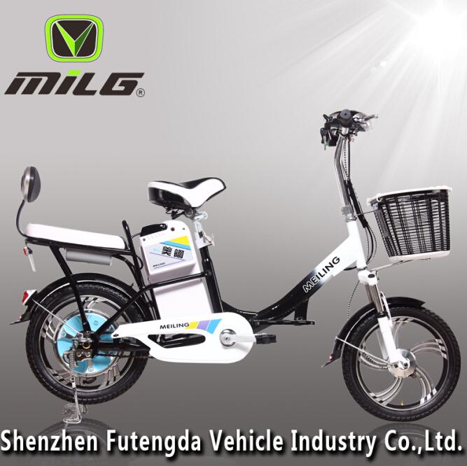 48v Light Dirt Electric Bike With 12v Hub Motor Pedeals E