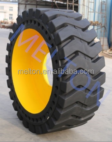 good abrasion resistance solid otr tire with rim 23.5-25