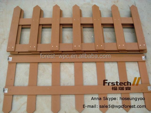 Frstech cercas para terrazas/valla balcón wpc/compuesto de madera ...