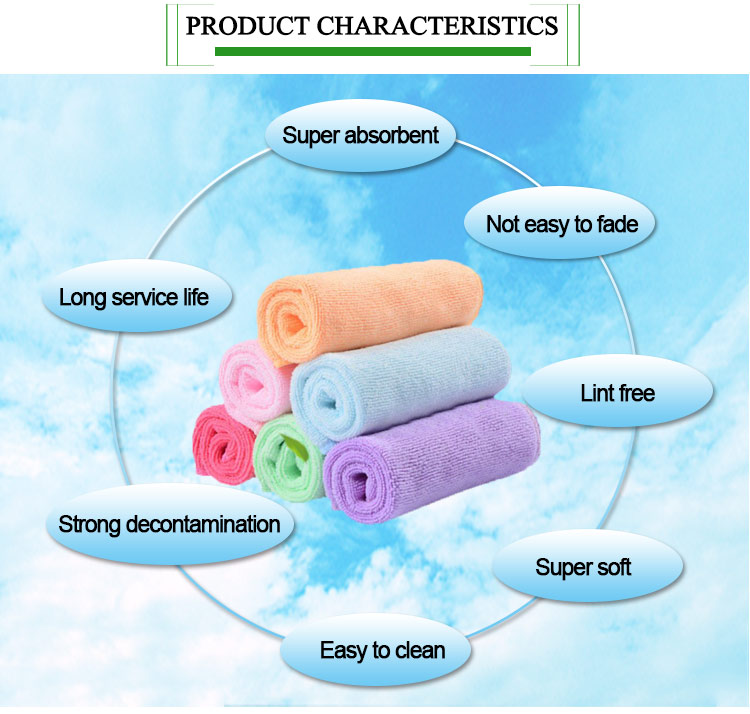 Exquisite workmanship red microfiber cleaning towel cloth