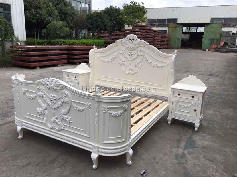 Franse vintage provicial wit geschilderd make dressoir tafel met