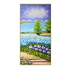 High quality custom handmade wall covering beautiful flowers field oil painting