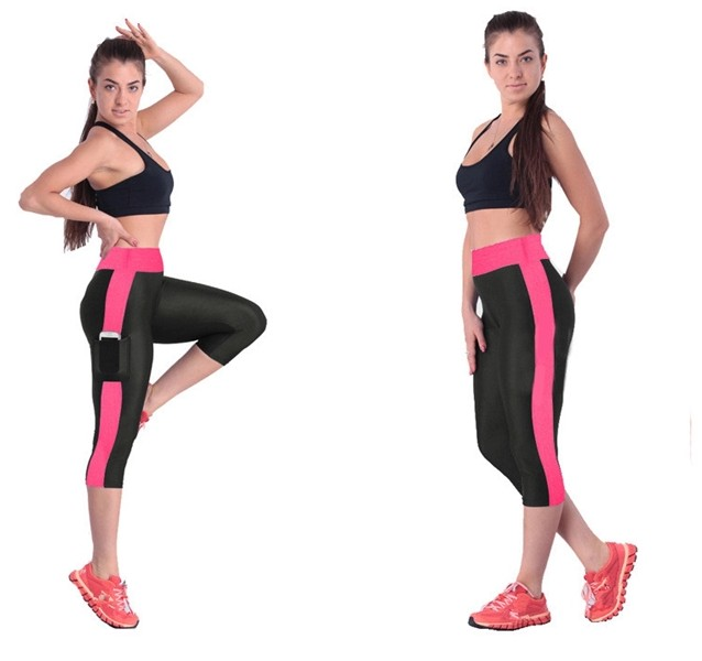 Hot Sale Women Comfortable Fitness Capri Pants Stretch Leggings