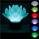 Personality Lotus Flower USB 3D Led Night Light 7Colors Changing Mood Desk Lamp Touch Button Kids LivingBedroom 3D Table Lamp