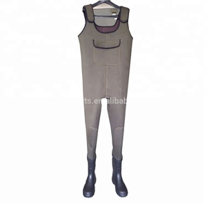 Men fishing boots thick neoprene chest waders