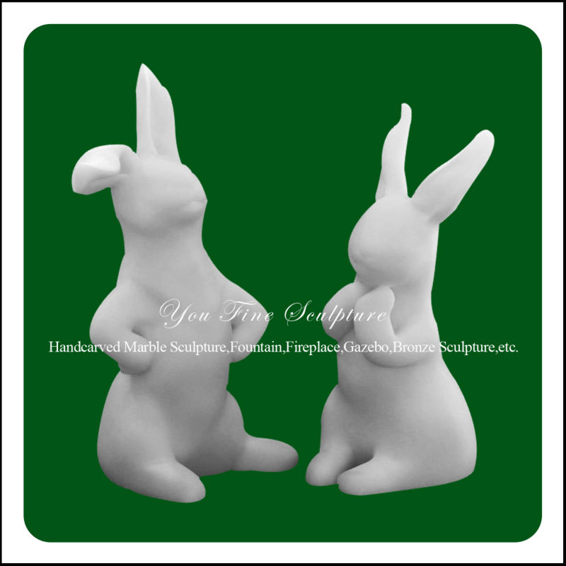 Lovely marble rabbits abstract art sculptures statues