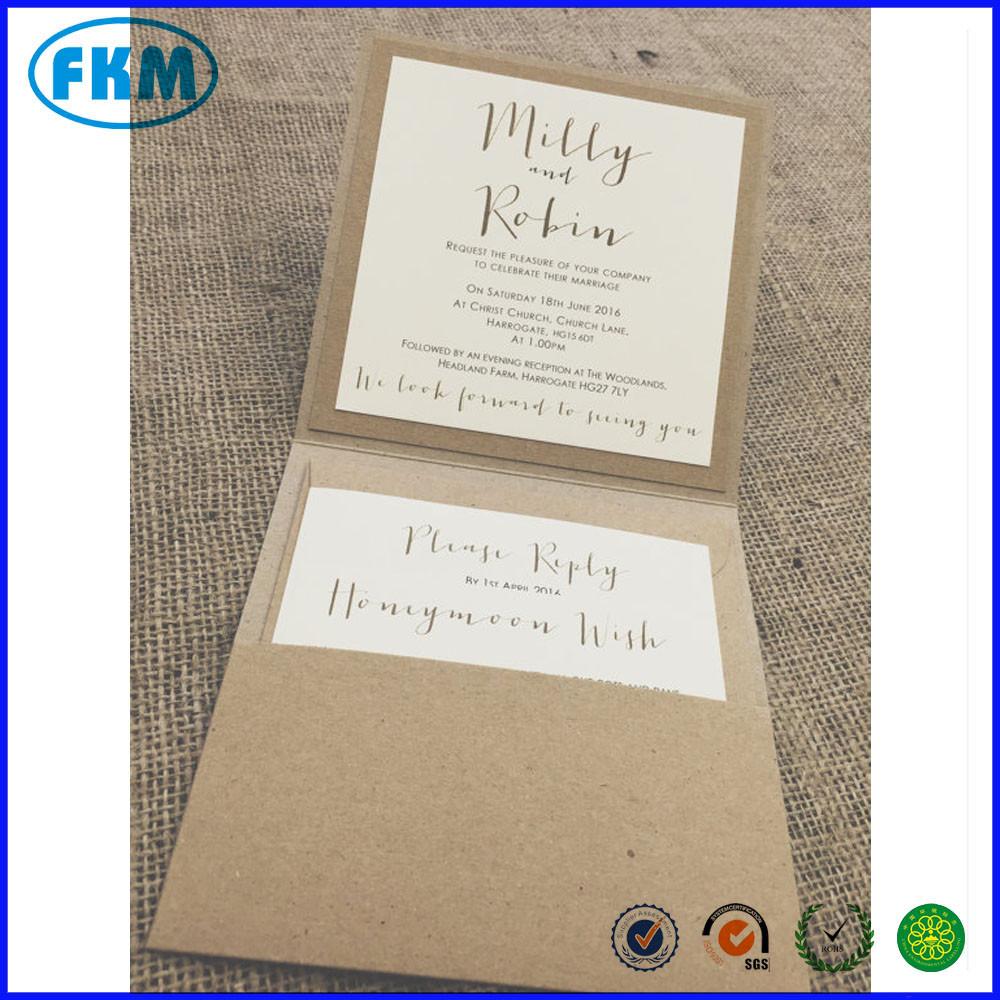 1 Vintage/shabby Chic Style Pocket \'milly\' Wedding Invitation 1 ...