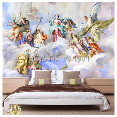 acheter livraison gratuite personnalis 3d papier peint plafond fresques au. Black Bedroom Furniture Sets. Home Design Ideas