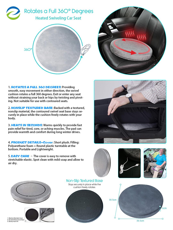 seat heated cushion rechargeable stadium massage battery