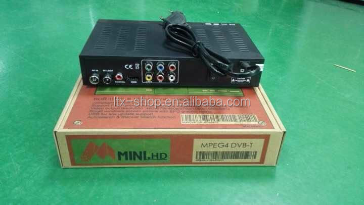 DVB-T Set Top Box MPEG-4 H.264 Set Top Box DVB-T TV Decoder OEM Supported