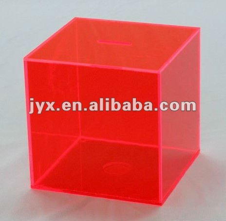 Acrylic Piggy Bank In Mars Red Color