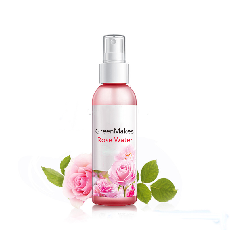 Private label organic facial toner pure rose water for face