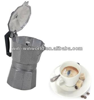Aluminum Espresso Cuccino Hand Coffee Maker Machine