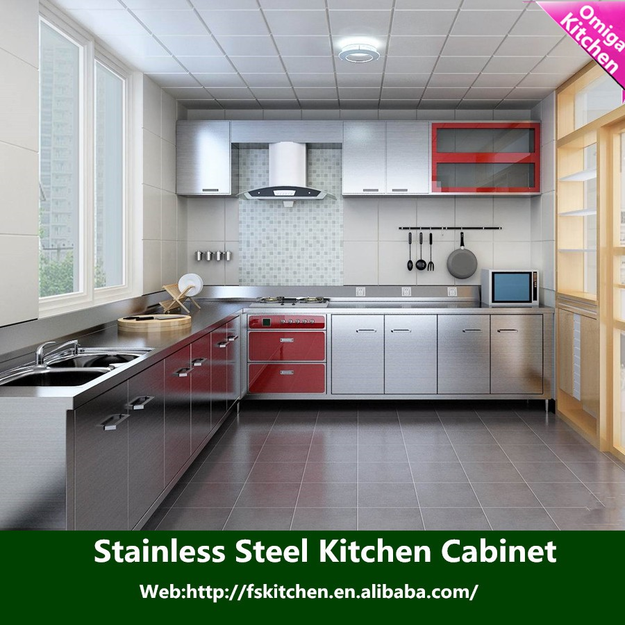 Kitchen Cabinets Cheap: Stainless Steel Kitchen Cabinets/cheap Kitchen Stainless