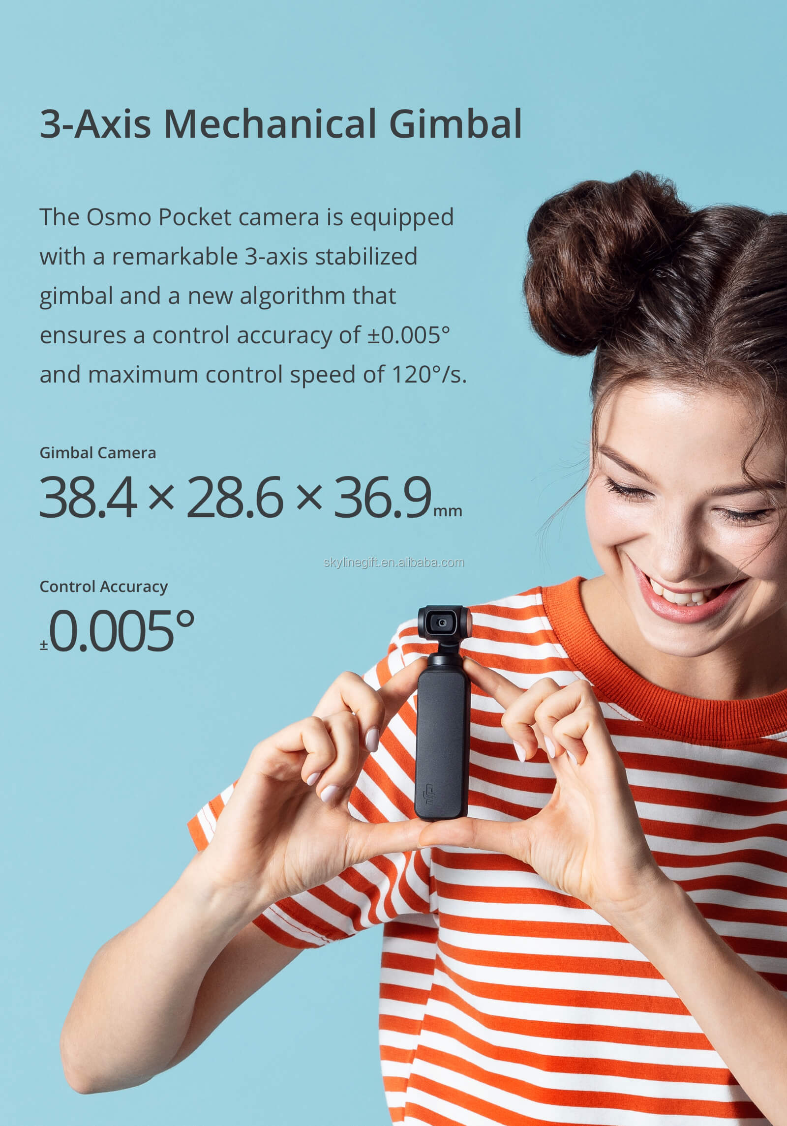 In stock DJI osmo pocket 3-axis handheld gimbal stabilizer
