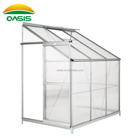 3 Rooms clear polycarbonate lean to wall Add-On greenhouse for garden