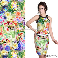 High Quality Digital Printing In Cotton Spandex Woven Fabric ,Wholesale