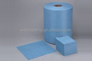 Industrial wipe airlaid paper