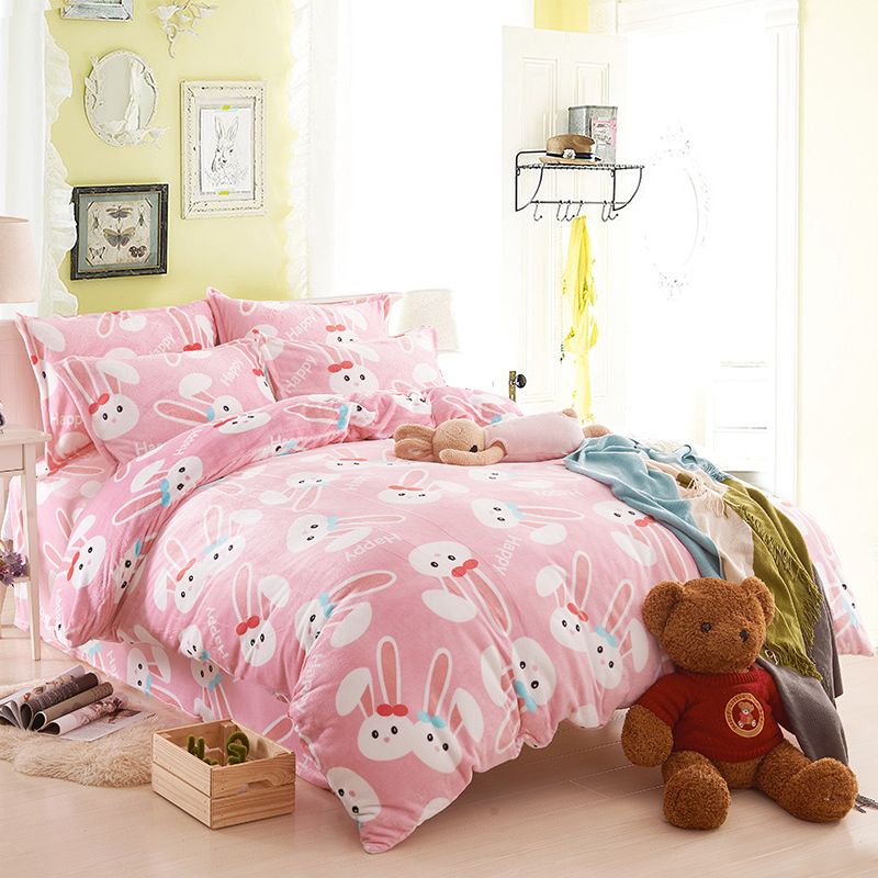 Bunny Comforter Set Rabbit Comforters And Quilts Pink Bed