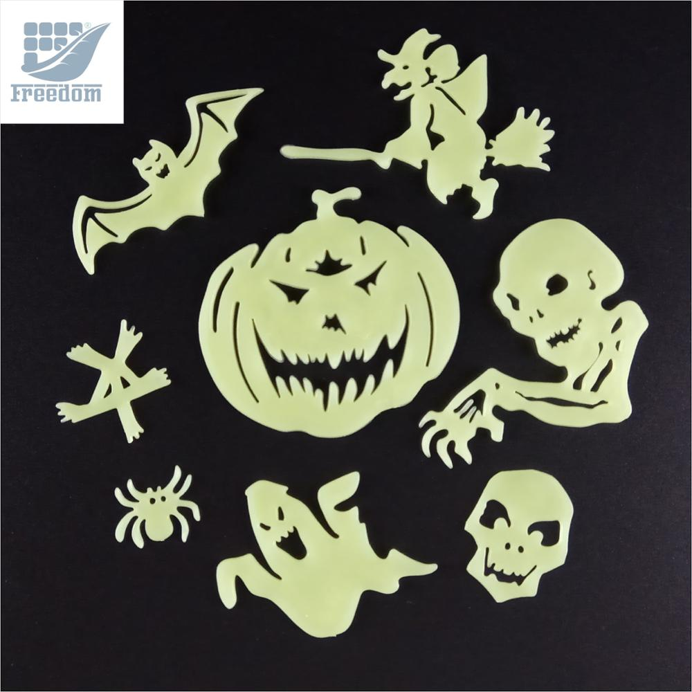 Halloween Party Home Decoration Luminous Wall Stickers Fluorescent ...