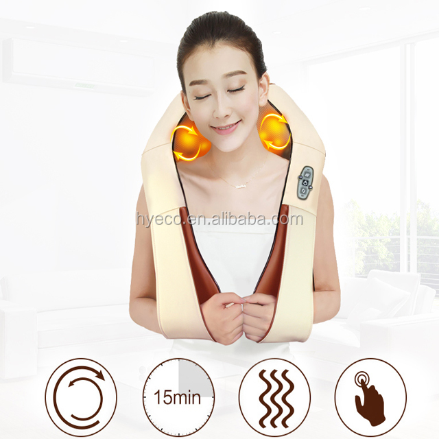 sample order car home use kneading massage shawl with heat for neck and <strong>shoulder</strong> and body massager