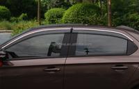 13-14 Pc+steel Auto Window Deflectors Visor Vent Shade Rain/sun ...
