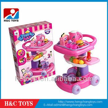 Food Cart toy kitchen set,BBQ Kitchen Cart HC156171, View toy cart ...