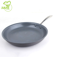 Wholesale Kitchen Cookware Tools Ceramic Coating Non-Stick Flat Bottom Frying Pan