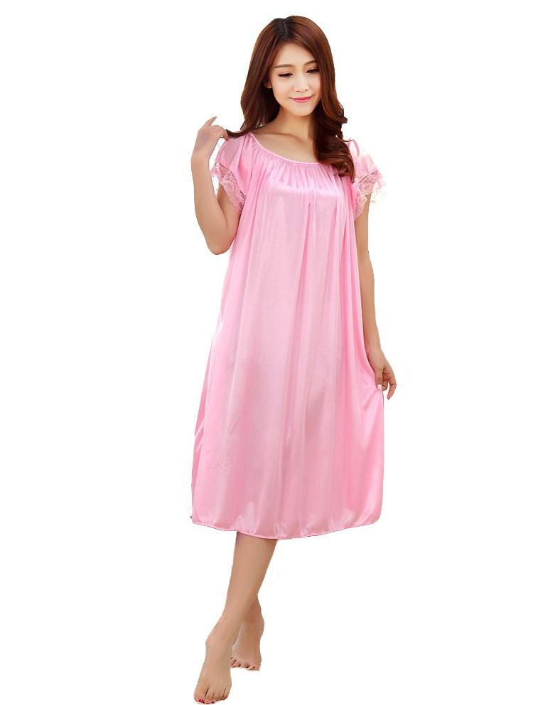 8fc828caa7dfe ... Summer-sexy-maternity-clothes-sleepwear-long-silk-nightgowns- ...