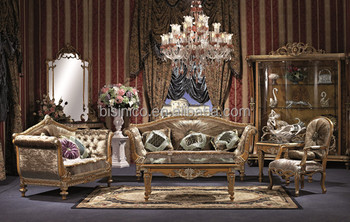 British Style Palace Sofa Set Vintage Wood Carving Living Room Chesterfield