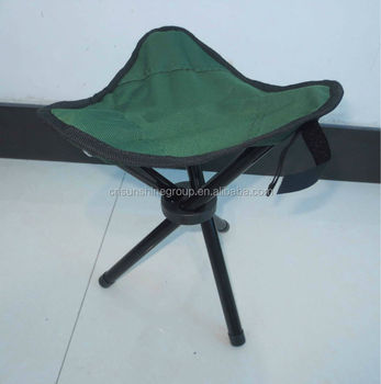 Folding Sitting Stool Sling Chair With Footstool Portable