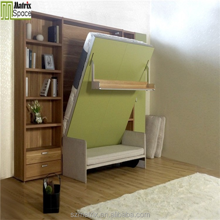 Folding Double Bed Designs Multifunction Sofa Foldable Bedroom Furniture Transformable Gas Lifting Springs