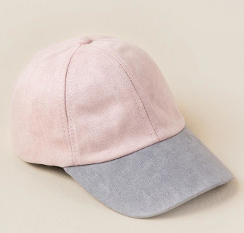 edd67be774c Hot Wholesale Two Tone Pink Soft Genuine Suede 6 Panel Unstructured Dad Hat  Women Baseball Cap