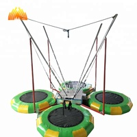 High quality bungee trampoline with trailer for sale