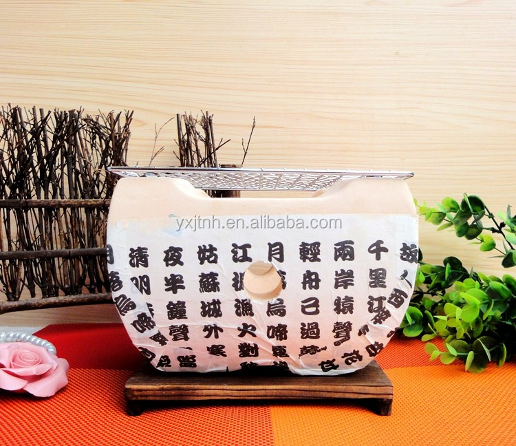 Mini Table Top Round Portable Charcoal Clay Bbq/barbecue ...