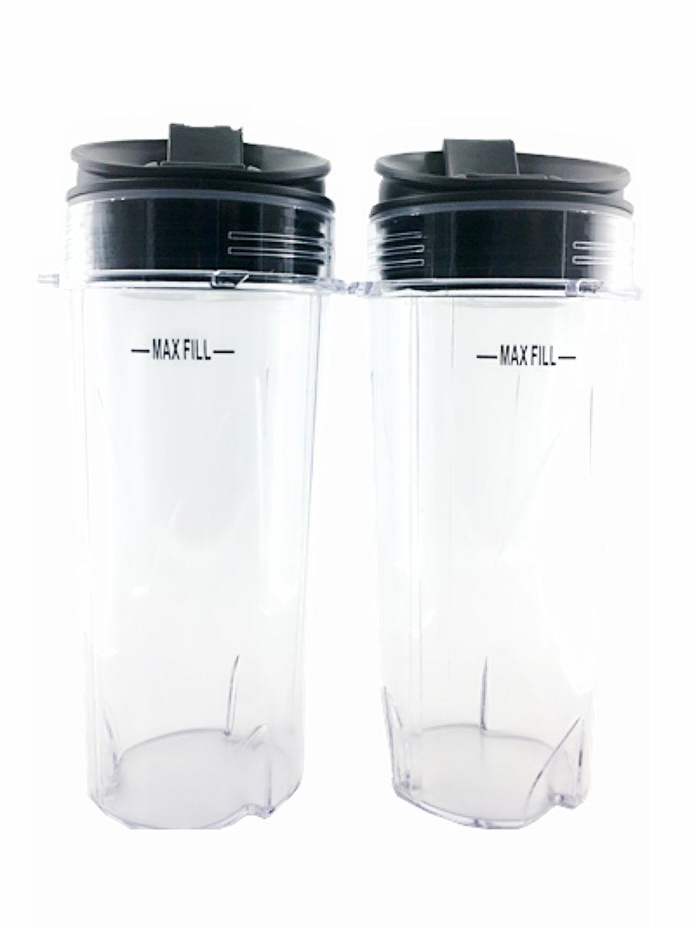 Sduck Replacement Parts for Nutri Ninja, Two Pack 16 oz. Cups and Sip with Seal Lids Fit for Ultima & Professional Nutri Ninja Series BL770 BL780 BL660 All Pro 4 Tab Blenders