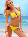 2016 New Women Bikini Set Push up Swimwear Beach bathing suit Leopard Halter de bain Swimsuit