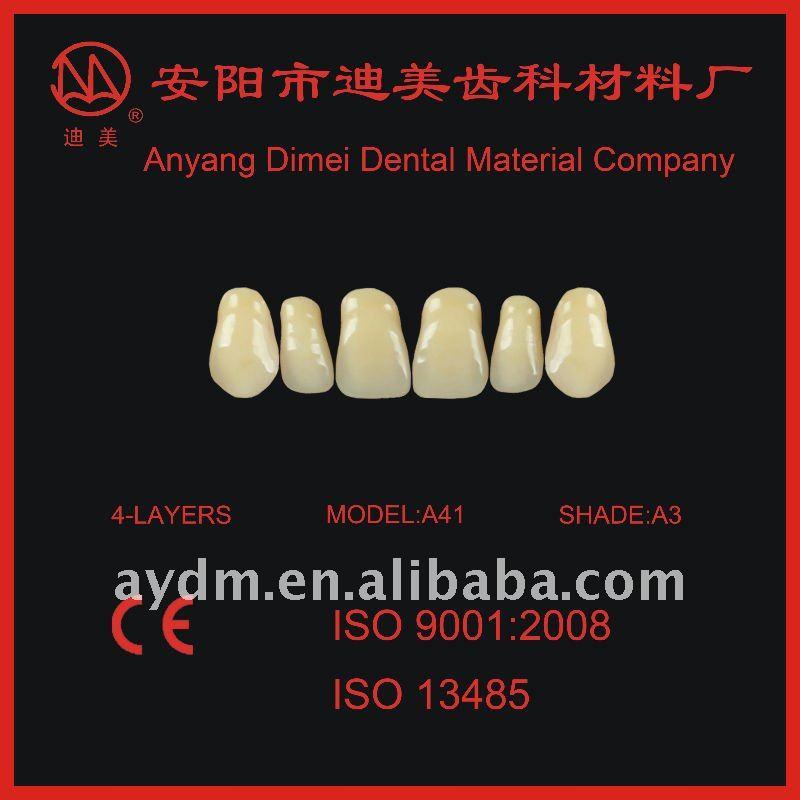 Denture Material Acrylic Teeth A41 Ce