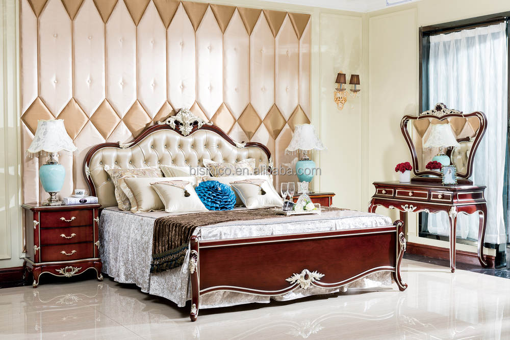 Imperial Noble Design Chesterfield Bed Luxury Wood Carved