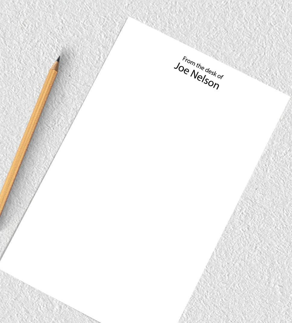 Personalized notepad set, notepad personalized gift, from the desk of notepad, 50 sheets, 5.5x8.5 inches, gift for coworker