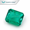 Wholesale Synthetic Emerald Gemstone Material emerald cut 10*8mm, Colombia synthetic emerald stone