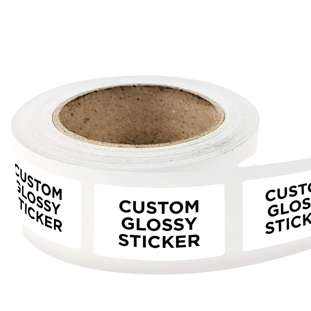 Get quotations · 1000 rectangle shape custom glossy roll label stickers 5 x 3 for products