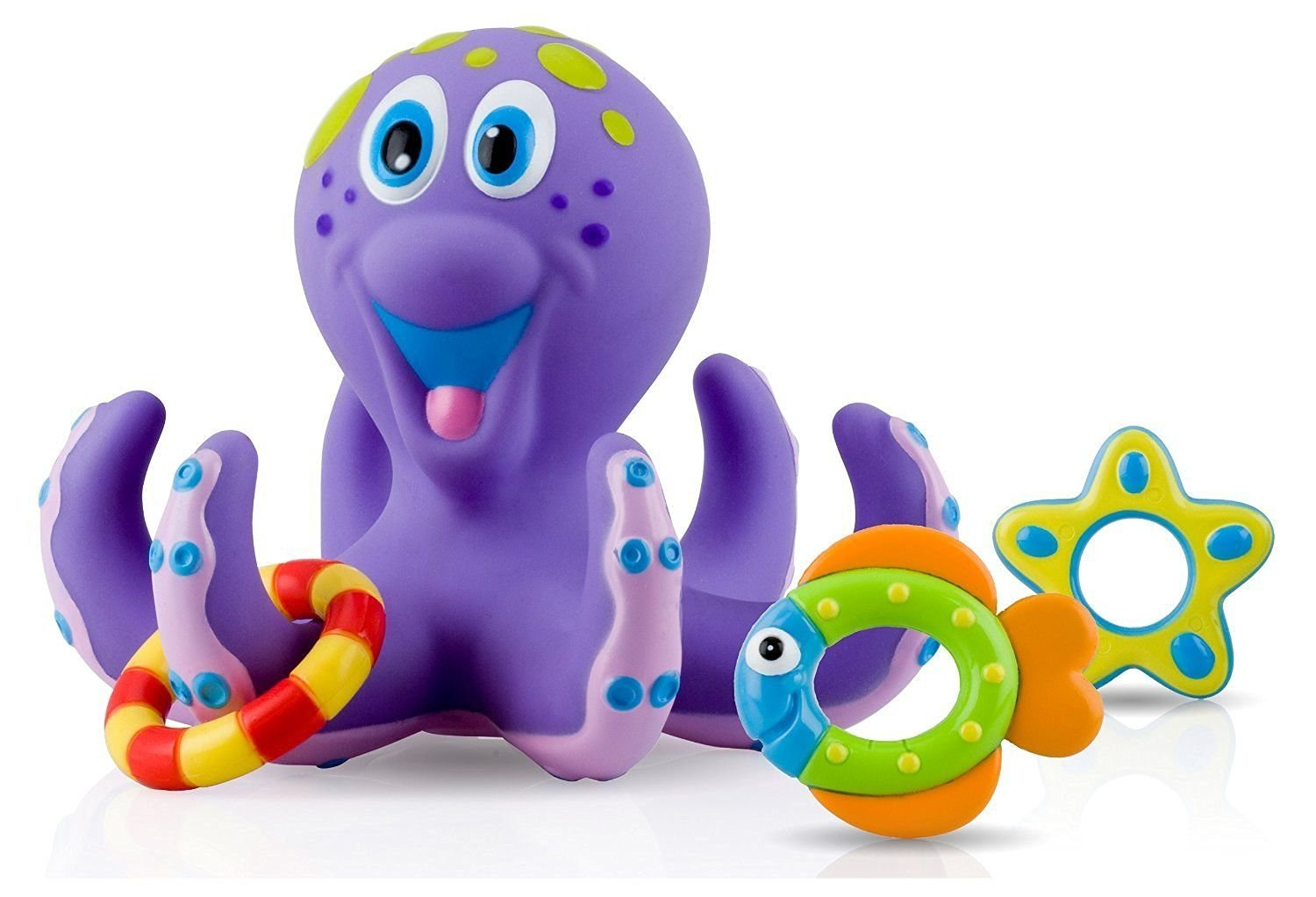Bath Toy For Toddlers Tub Baby Nuby Octopus Bath Time Toss