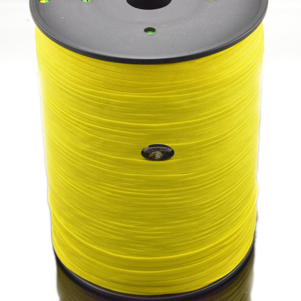 hot new products 1000ft spool High Density 650 Coreless Flat Paracord