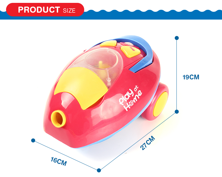 Housekeeping clean up suction pretend play electric mini vacuum cleaner toy for kids