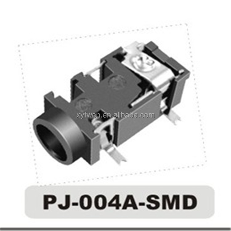 Hot sell 3.5mm 4 Pole SMT 5 Pin Audio Jack