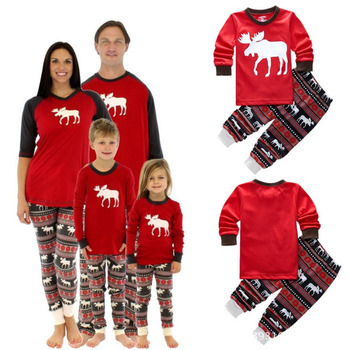 855f28fa1dbf High Quality Men Women Kids Christmas Family Matching Outfit Pajamas ...