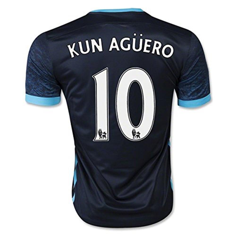 Get Quotations · 2016 Manchester City 10 Kun Aguero Away Football Soccer  Jersey In Navy fe7b02653